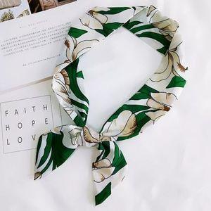 floral flower twilly scarf head bag neck
